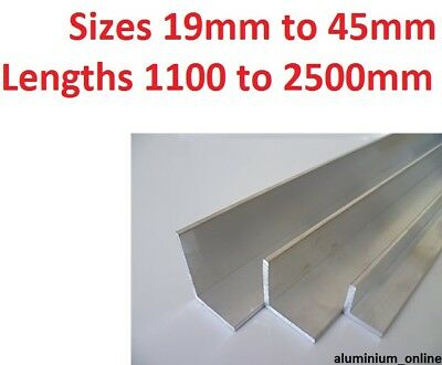 £12.52 • Buy ALUMINIUM ANGLE UNEQUAL 19mm 25mm 32mm 38mm 45mm L Profile Up To 2500mm