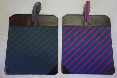 $12.76 • Buy Smart Turnout London Woven Leather Ipad Sleeve Case Green / Mulberry