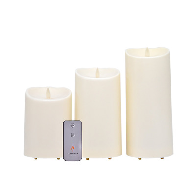 £27.99 • Buy Luminara Outdoor Flameless Battery Candles With Remote Control - Set Of 3