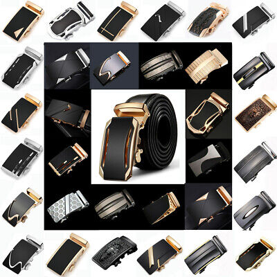 $4.99 • Buy Top Quality Mens Automatic Buckle For Leather Ratchet Belt Waist Strap Waistband