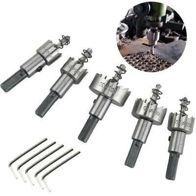 £7.99 • Buy 5x Hole Saw Tooth HSS Stainless Steel Drill Bit Set Cutter Tool For Metal Wood