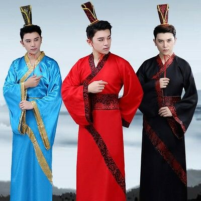 £15.98 • Buy Mens Hanfu Dress Chinese Ancient Clothes Tang Dynasty Performance Outfit Cosplay