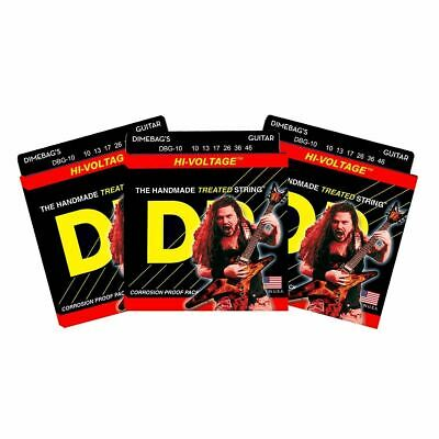 $ CDN30.61 • Buy 3 Sets DR Strings DBG-10 Dimebag Darrell Signature Medium 10-46 Electric Guitar