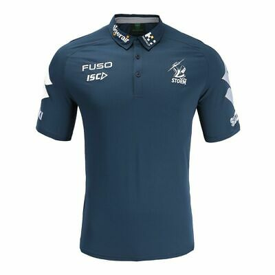 £37.07 • Buy Melbourne Storm NRL 2019 ISC Navy Media Polo Shirt Size S-5XL! T9