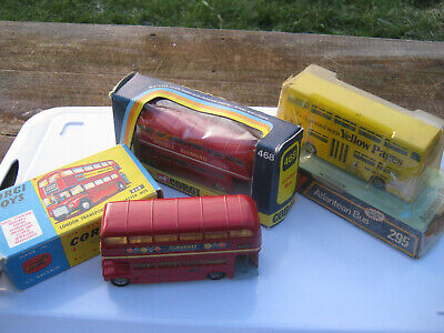 Corgi 468 Dinky 295 Collection Of 3 Original Buses Still Very Good For Ages • 79£