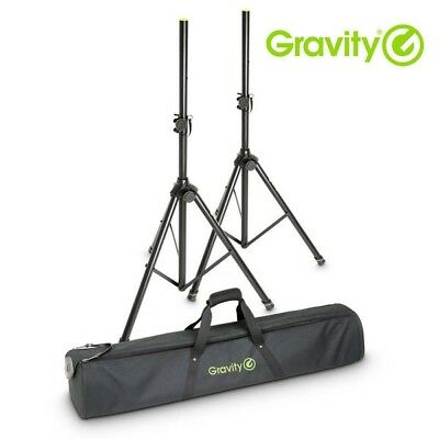£99 • Buy Gravity SS 5212 B SET 1 Adjustable Tripod Speaker Stands (Pair) With Carry Bag