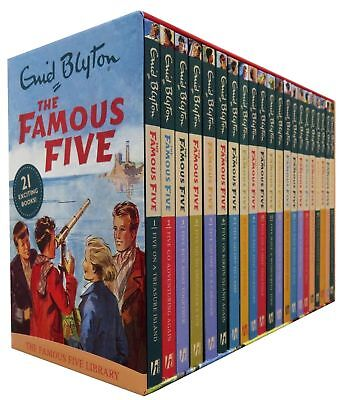 Famous Five Series 21 Books Box Set Pack Collection Enid Blyton  • 28.70£