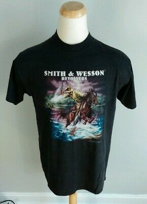$ CDN176.38 • Buy Rare Vintage 3d Emblem Smith And Wesson Revolvers Motorcycle Trucker T Shirt XL
