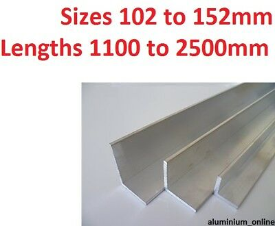 £23.91 • Buy ALUMINIUM ANGLE UNEQUAL 102mm 127mm 152mm L Profile Select Size In Listing