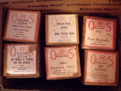 $ CDN25 • Buy Lot Of 6 Player Piano QRS Word Rolls Instrument Rolls Previously Played
