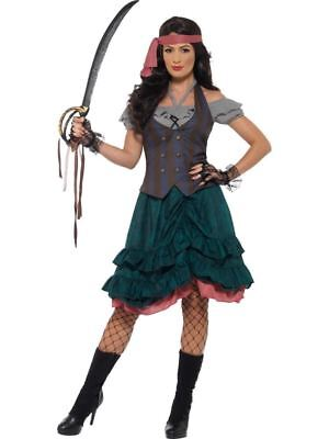 Deluxe Pirate Wench Costume, Pirate Fancy Dress, UK Size 8-10 • 37.95£