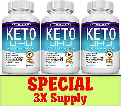 $42.97 • Buy Keto Diet Pills BHB - Advanced Ketogenic Weight Loss Fat Burner 3X Supply