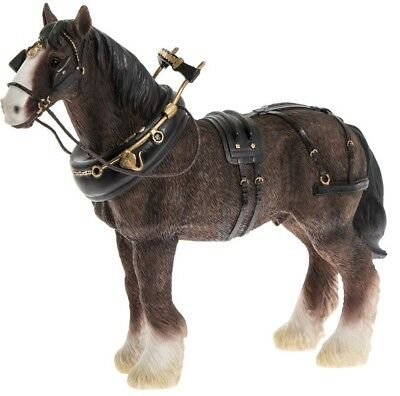 Leonardo Collection Shire Horse Figurine Ornament Clydesdale Horse • 15.99£