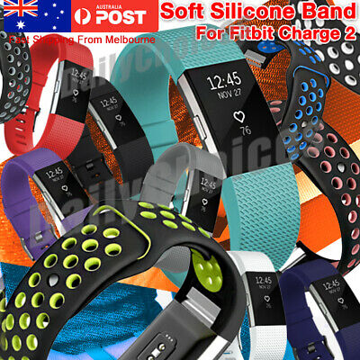 AU4.95 • Buy For Fitbit Charge 2 Bands, Soft Silicone Adjustable Replacement Sport Strap Band
