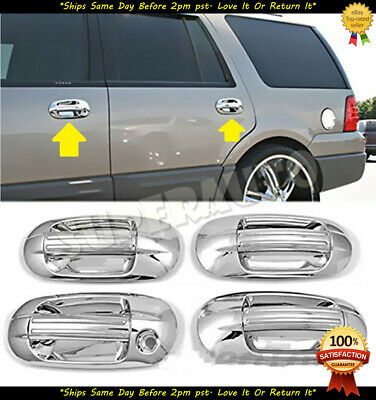 $25.55 • Buy For 2003-2017 Ford Expedition+Lincoln Navigator 8pcs Chrome Door Handle Covers