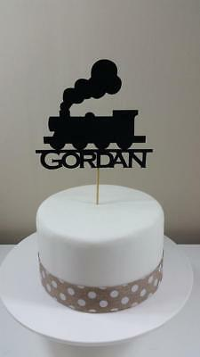 Personalised Train Silhouette Card Cake Topper, Birthday  • 4.55£