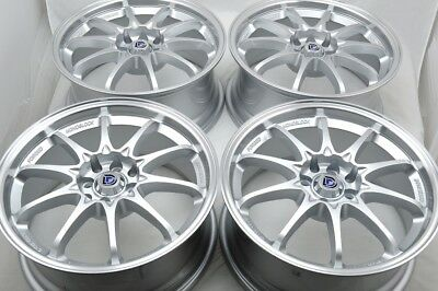 $539 • Buy 4 New DDR XFX 17x7.5 4x100/114.3 35mm Silver/Polished Lip 17  Wheels Rims