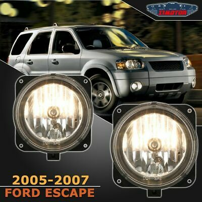 $28.87 • Buy Fit Ford Escape 05-07 Clear Lens Pair Bumper Fog Light Lamp OE Replacement DOT