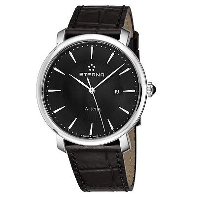 Eterna Women's Artena Black Dial Black Leather Quartz Watch 2510.41.41.1251 • 122.29£