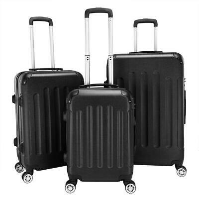 View Details 3Pcs Grey Luggage Travel Set Bag TSA Lock ABS Trolley Spinner Carry On Suitcase • 76.89$
