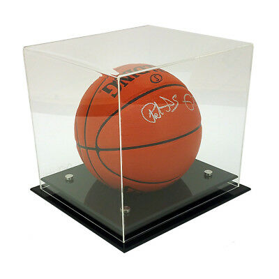 NEW! DELUXE 5mm THICK ACRYLIC BASKETBALL/SOCCER BALL DISPLAY CASE - UV PROTECTED • 39.95$