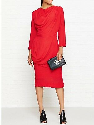 £105 • Buy [STOCK CLEARANCE] Vivienne Westwood Anglomania New Red Fond Dress -Size IT40/UK8