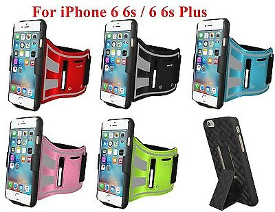 AMZER Snap On Hard Case For IPhone 6 /  6s Plus + Free Jogging Gym Arm Band Gift • 2.39£