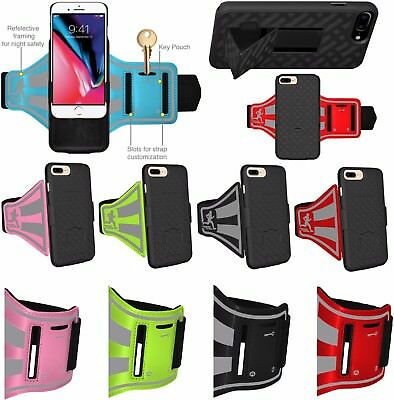 AMZER Jogging Gym Arm Band Holster Stand For IPhone 7 8 SE 2020 Plus + Snap Case • 3.19£