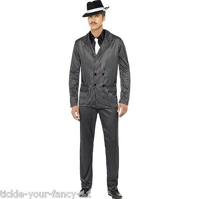 Men's Classic Gangster Suit Fancy Dress Costume 1920's Mobster Al Capone Stag Do • 26.77£