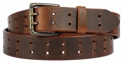 $40 • Buy Brown Leather Belt With Lifetime Warranty. Double Prong Made In The USA