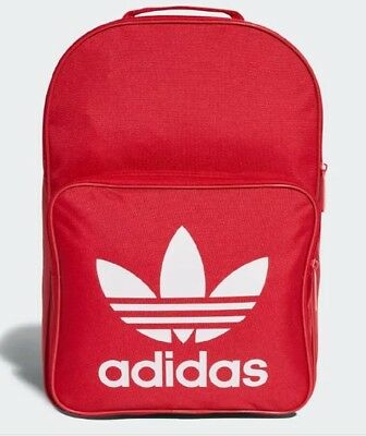 0bb546039d7f New Adidas Originals Trefoil Classic Backpack Bag  dq3157 Red   White •  39.99