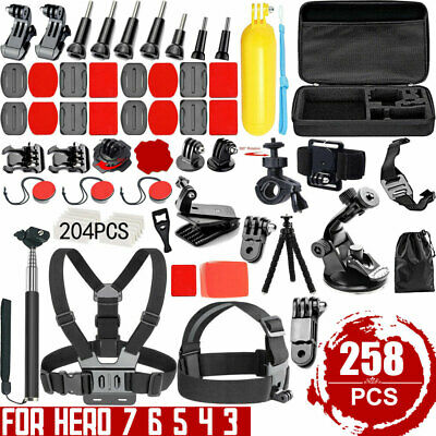 AU34.99 • Buy 258pcs Action Camera Accessories Kit For GoPro Hero Video Cam Mount Tripod Set