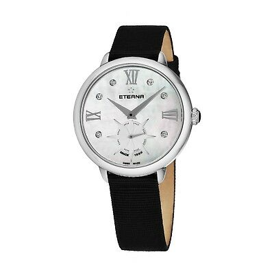 Eterna Women's Eternity MOP Dial Black Fabric Quartz Watch 2801.41.66.1408 • 172.94£