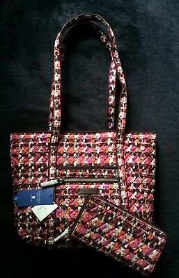 c2d3f85643 Vera Bradley Houndstooth Tweed Iconic Tote Bag And Matching Wallet NWT •  59.97