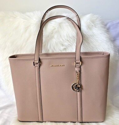 c6ed859c3a Michael Kors Sady Large Multifunctional Top Zip Tote Laptop Bag ( Fawn  Pink) • 149.95
