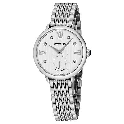 Eterna Women's Eternity White Dial Stainless Steel Quartz Watch 2801.41.96.1743 • 180.90£