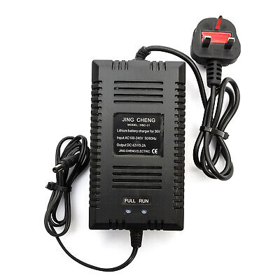 36v 10amp / 15amp Lithium Battery Charger 0-2amp Electric Bicycle Bike UK Plug • 12.99£