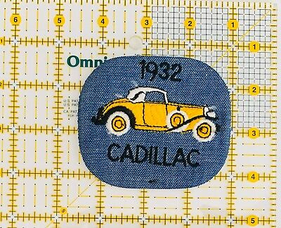 Vintage 1932 Cadillac Car 🚙 Iron On Patch Embroidered New • 4$