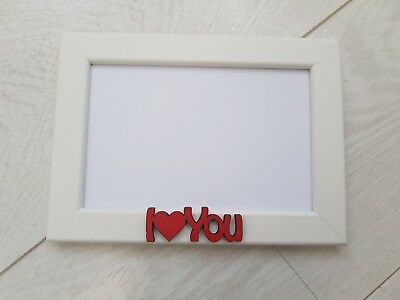 Photo Frame Personalised I Love You Gift 6x4 Boyfriend Girlfriend Valentine's • 5.95£