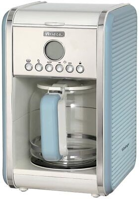 Ariete Retro Style Filter Coffee Machine 12 Cup, 24 Hour Timer, Blue • 54.99£