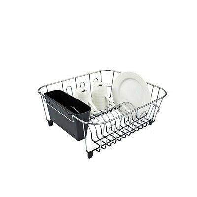 AU24.90 • Buy New D.line Small Dish Drainer Dishrack W/ Kitchen Caddy Utensil Holder Black