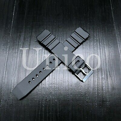 $ CDN10.83 • Buy 18 20 22 MM Black Silicone Rubber Watch Band Strap Fits Seiko Diver Water Black