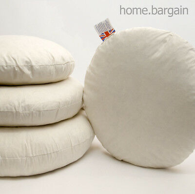 Duck Feather Cushion Pad Round Insert Filler Home Sofa Couch Pillow 16  18  20  • 5.99£
