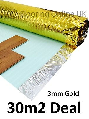 30m2 Deal - 3mm Comfort Gold - Acoustic Underlay For Wood & Laminate - Sonic • 34.99£