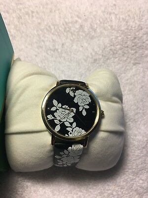 $ CDN80.20 • Buy KATE SPADE Ladies Floral Black Leather Watch - KSW1498