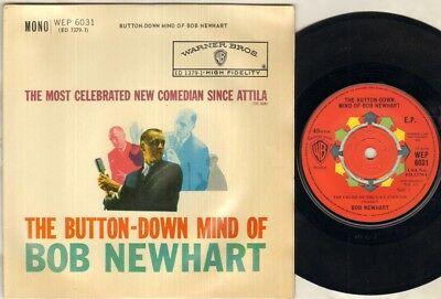 BOB NEWHART The Button Down Mind Of Bob Newhart  7  VINYL • 4.99£