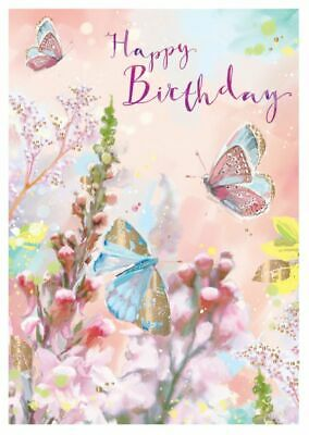 Birthday Card - Butterflies - At Home Ling Design Quality NEW • 2.69£