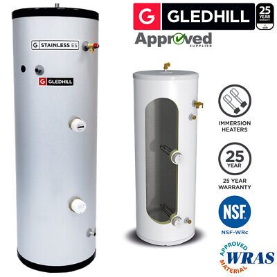 £341.79 • Buy Gledhill ES 150L DIRECT Unvented Hot Water Cylinder Stainless Steel 150 Litre