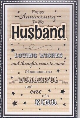 Large Special Husband Anniversary Card 8 Page Verse Keepsake Gift Card • 4.99£