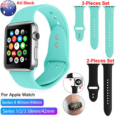 AU6.89 • Buy Apple Watch Series 4 3 2 1 Silicone Replacement Band Strap 40/44/38/42mm IWatch